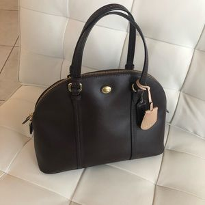 Authentic Coach Peyton Leather Cora Domed Satchel